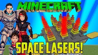 Minecraft: LASERS! FROM SPACE! (Practical Space Fireworks Mod!)