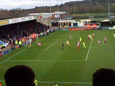 Lincoln City FC vs York City FC, Scott Fenwick penalty goal