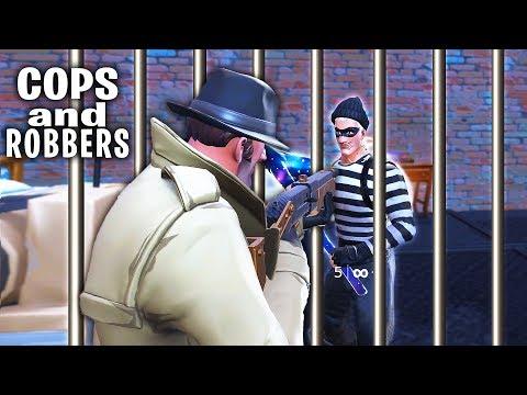 ALPHASTEINS AUSBRUCH aus dem FORTNITE KNAST! Cops and Robbers Fortnite!