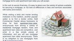 Where Can You Find Outstanding Apartment Loan Rates?