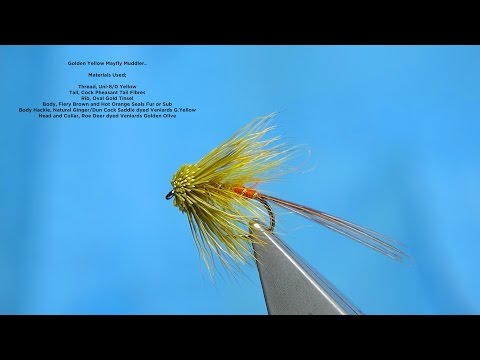 Download Youtube: Tying a Golden Yellow Mayfly Muddler by Davie McPhail