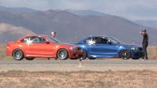 450 Hp Bmw 135i Vs 440 Hp Bmw 1m Coupe Half Mile Runway Drag Race