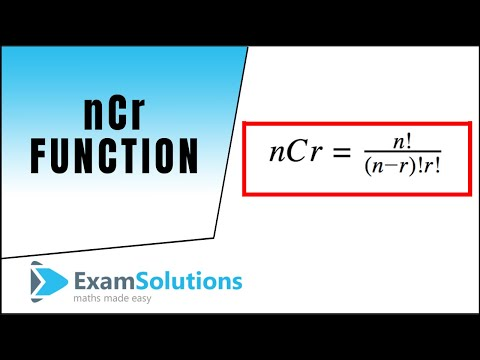 nCr function : ExamSolutions