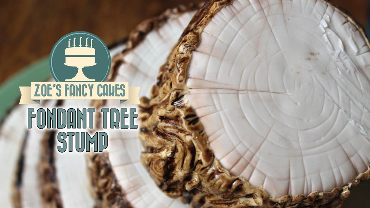 Tree Stump Cake How To Make A Fondant Tree Stump Effect