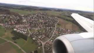 Lufthansa Boeing 737-300 - stormy hop from Frankfurt to Zuerich