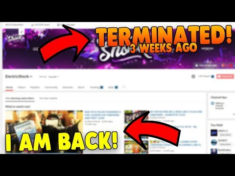MY CHANNEL WAS TERMINATED! - AFTER 3 WEEKS OF FIGHTING I AM BACK!