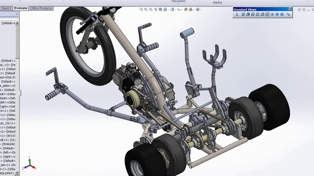 Building a Variable Traction Motorized Drift Trike - part 1 - YouTube