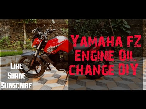 yamaha fz/fzs/fazer/ byson ..engine oil and oil filter change DIY