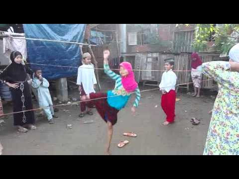 Muslim Children play a game of energy (Cambodia)