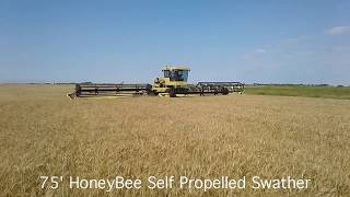 75ft honeyBee swather WORLD'S LARGEST SWATHER