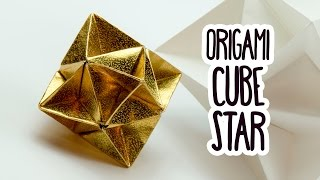 Origami Cube Star Tutorial ⭐️ Christmas Decoration DIY ⭐️ Paper Kawaii