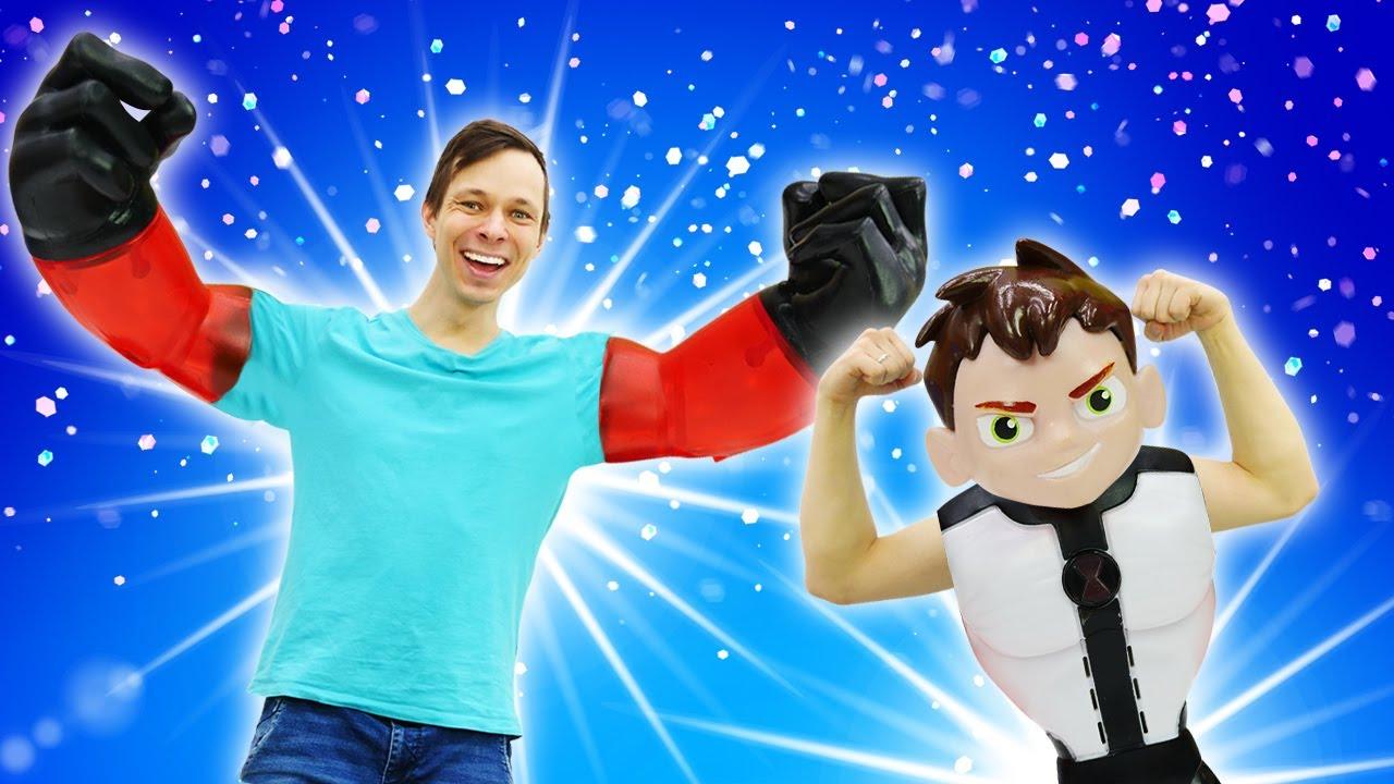 БЕН 10 в видео шоу – Часы Омнитрикс Бен Тена сломались! – Супергерои в видео игры для мальчиков