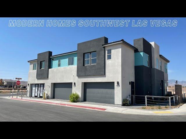 New Townhomes for Sale Southwest Las Vegas | Modern Homes | Plan 2 Tour, $365k+, 3BD, 2BA,  1,567sf