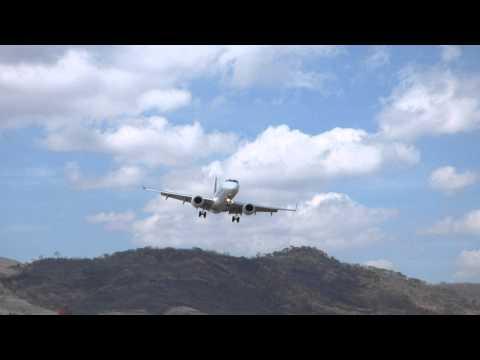 Taca Airlines Embraer 190 Landing MHTG Toncontín Tegucigalpa Honduras