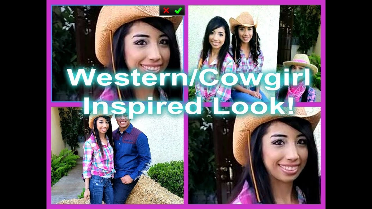 Cute Western/Cowgirl Inspired Look! - YouTube