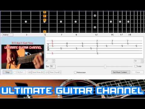 Guitar Solo Tab] If I Ain\'t Got You (Alicia Keys tune) - YouTube