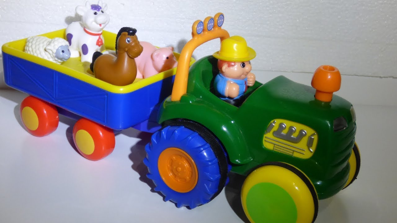 Kiddieland Old Macdonald Had A Farm Tractor Toy With