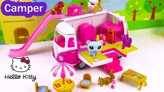 MLP LPS Hello Kitty Summer Camper RV Van Fluttershy Twilight Littlest Pet Shop Review