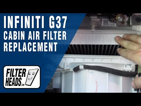 How to Replace Cabin Air Filter 2009 Infiniti G37