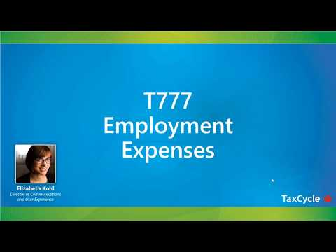 T777 Employment Expenses - Webinar from March 23, 2018