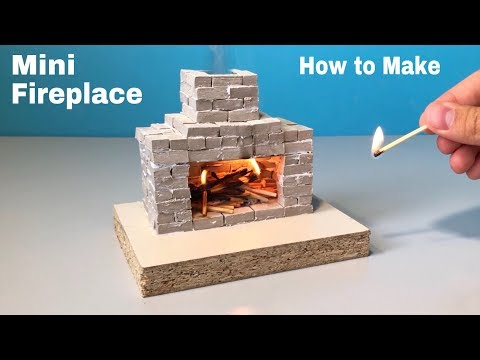 How to Make a Fireplace at Home - Realistic DIY Miniature Fireplace