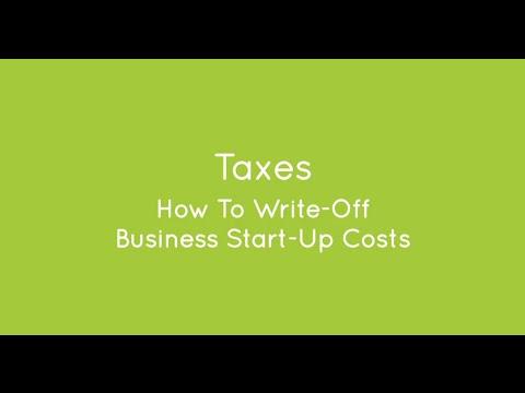 Business Tax Write Offs: Start Up Costs