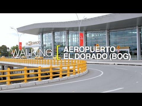 [4K] Walking Bogotá, Colombia. Aeropuerto Internacional El Dorado.