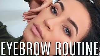 MY EYEBROW ROUTINE (DRUGSTORE): FULL, NATURAL BROWS | Stephanie Ledda