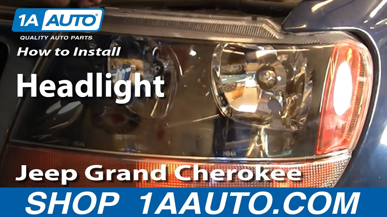 How To Replace Headlight 02 04 Jeep Grand Cherokee Youtube