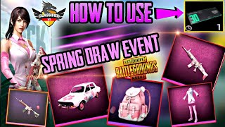 How to play Spring Draw event - 0.12.0 update is here