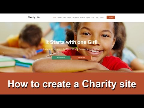 How to create a Charity site