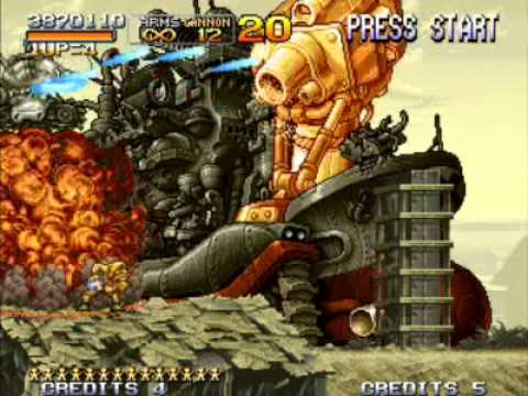 Metal Slug X Mission 4 Boss Battle Eri Vs Big Shiee Youtube