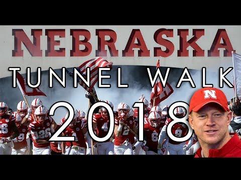Nebraska Cornhuskers Football Tunnel Walk 2018 - Scott Frost's First Game - Akron