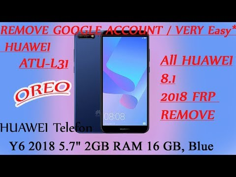 Huawei Y6 Prime 2018 ATU-L11 8 0 Oreo Frp Bypass Google Account
