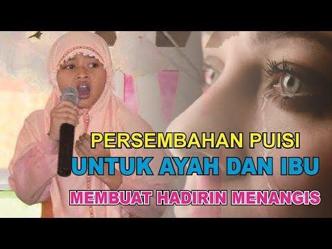 MENGHARUKAN !!! PUISI UNTUK AYAH DAN IBU Membuat Hadirin menangis, oleh siswa SD Ya Ummi Fatimah