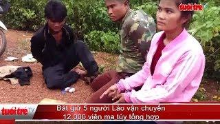 Bắt giữ 5 người Lào vận chuyển 12.000 viên ma túy tổng hợp | Báo Tuổi Trẻ