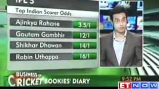 Business of Cricket - Bookies diary - Top betting odds for IPL 5