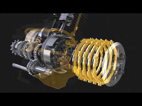 The Lubricant Flow in 4-Stroke Motorcycles