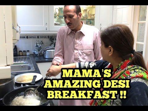 MAMA'S AMAZING DESI BREAKFAST !!! [VLOG]