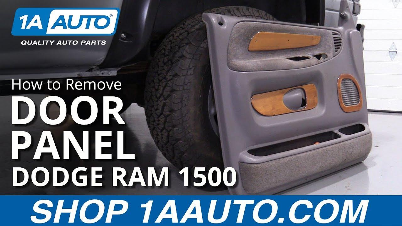 How To Replace Door Panel 94 02 Dodge Ram 1500 Youtube