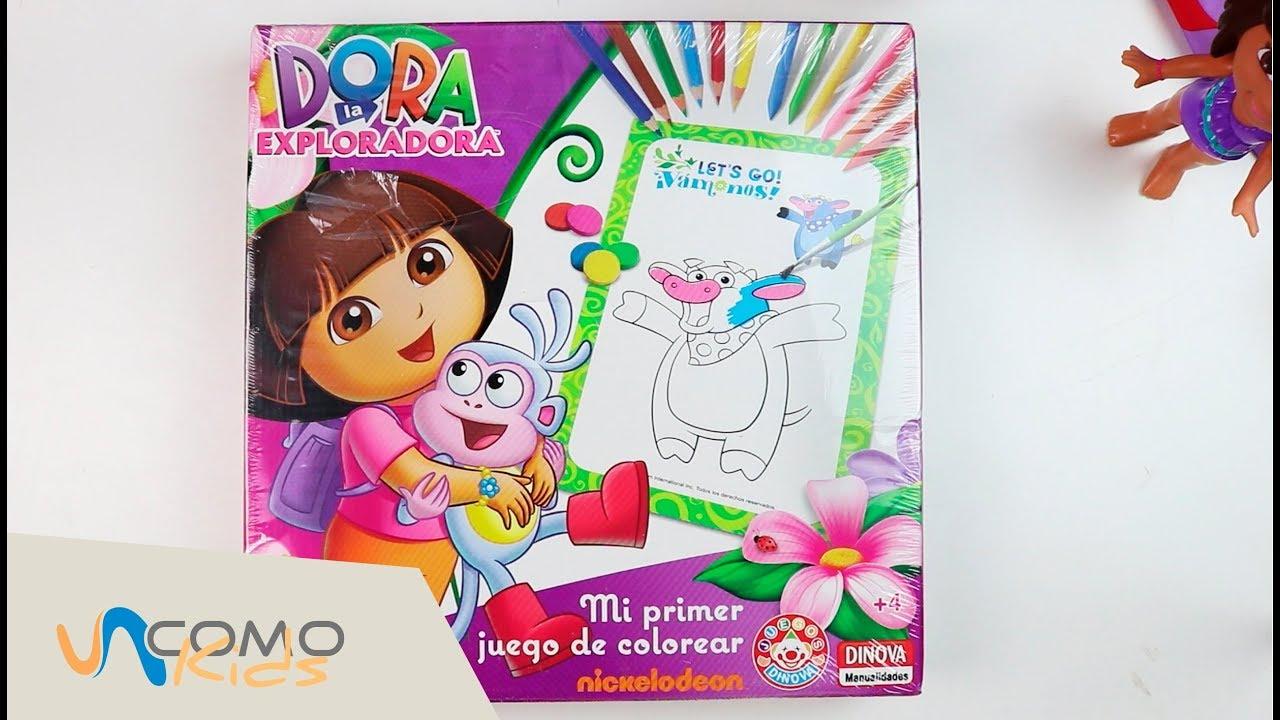 PINTA Y COLOREA con el juego de DORA LA EXPLORADORA - YouTube