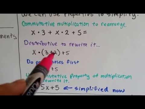 Grade 6 Math #1.9, How to simplify algebraic expressions