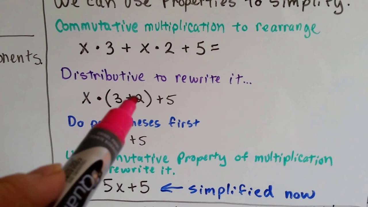 Grade 6 Math 1 9 How To Simplify Algebraic Expressions