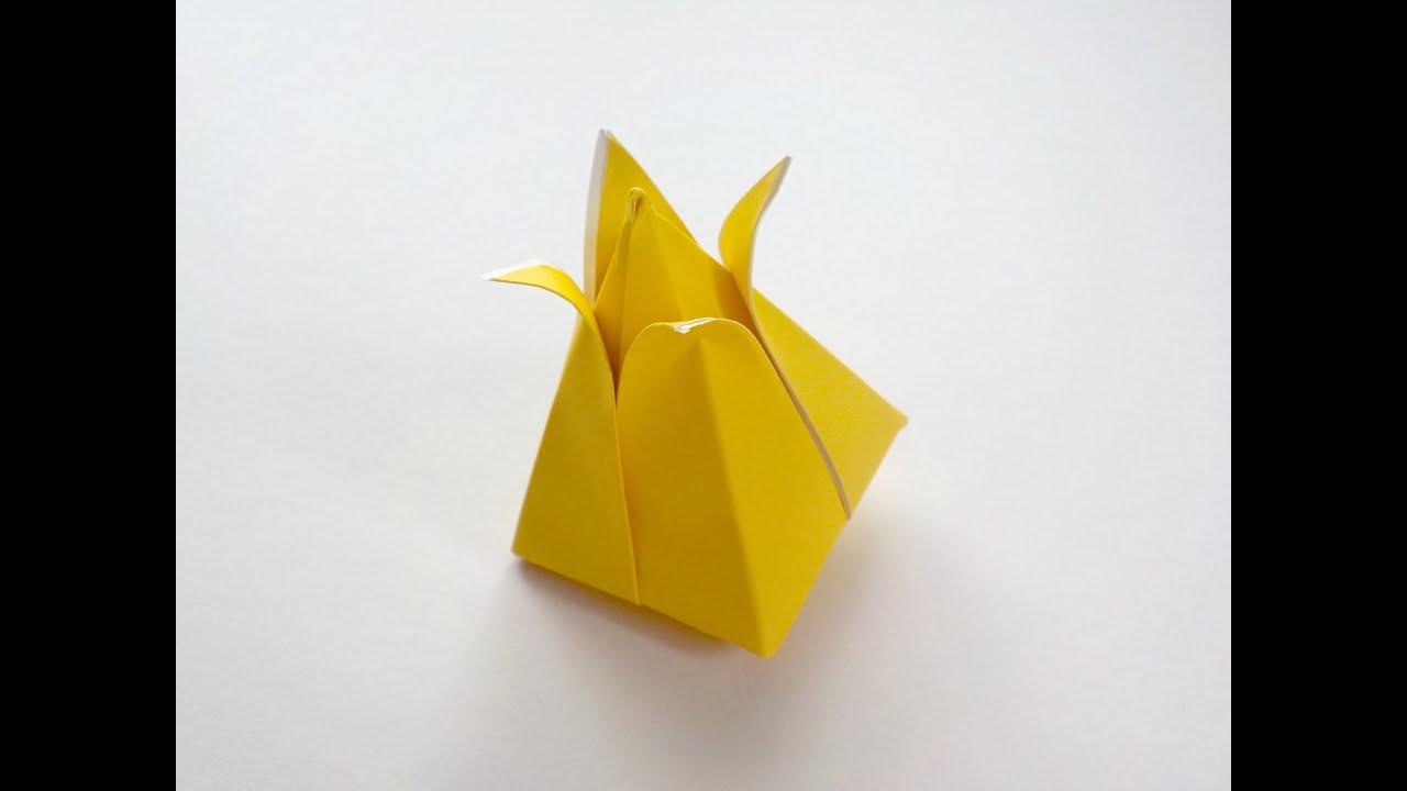 Origami Tulip Flower Youtube
