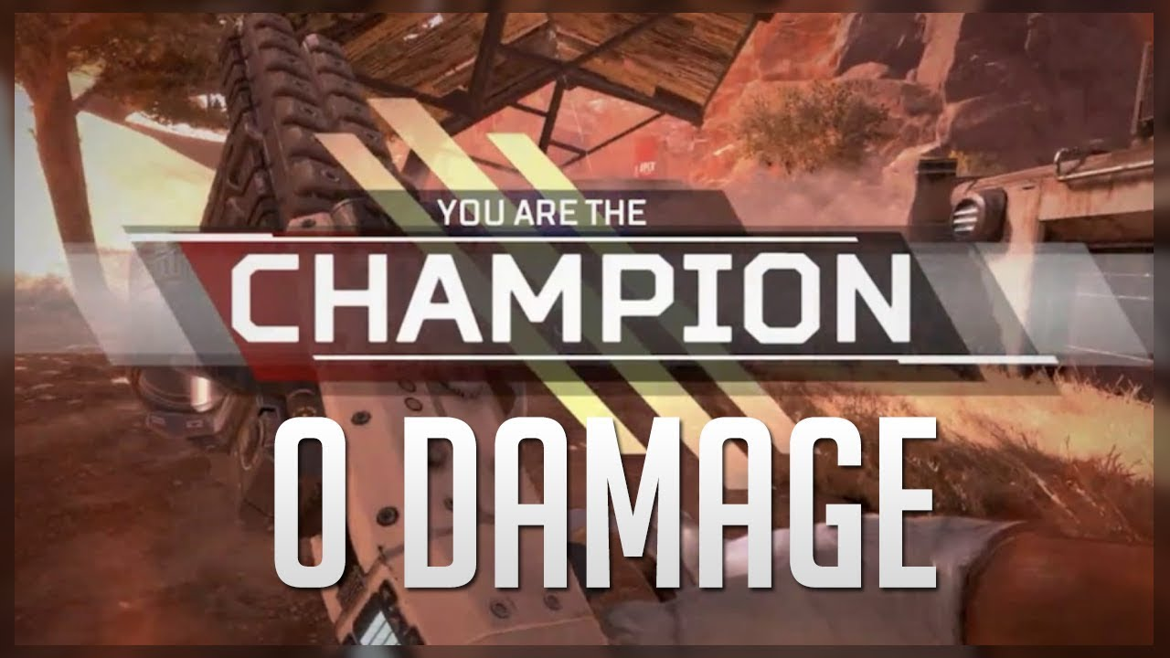 FIRST EVER 0 DAMAGE VICTORY IN APEX LEGENDS