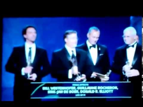 VFXprotest Life of Pi Best Visual Effects Award Speech Oscar Awards 2013