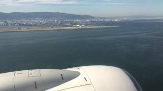 神戸空港 旅客機 超低空 旋回