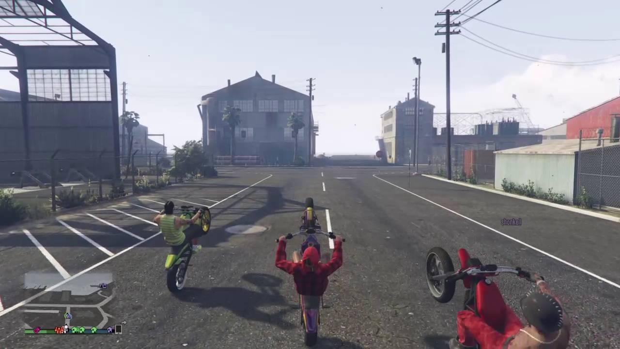 Easy Wheelie Bike Gta V Manchez Youtube