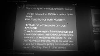 Roblox is under a cyber attack