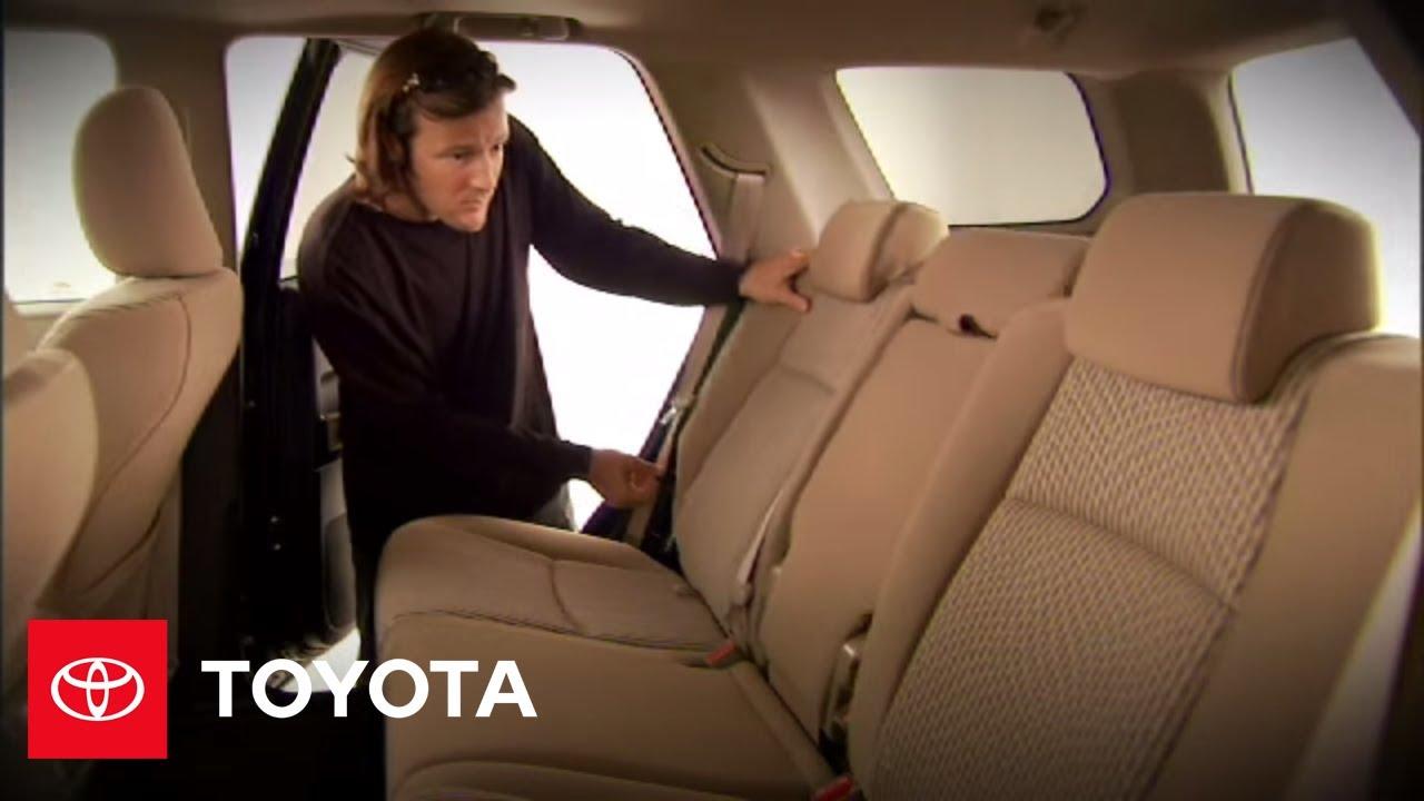 2010 4Runner How-To: 2nd Row Seat (5 Passenger Model) | Toyota